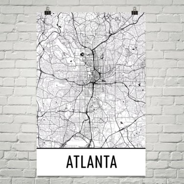 vMap Art- City Atlanta from She Makes Cents